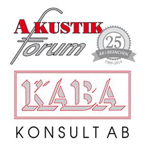 Logotyper för Akustikforum och Kaba Konsult